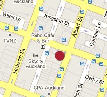 Street map of Auckland office location